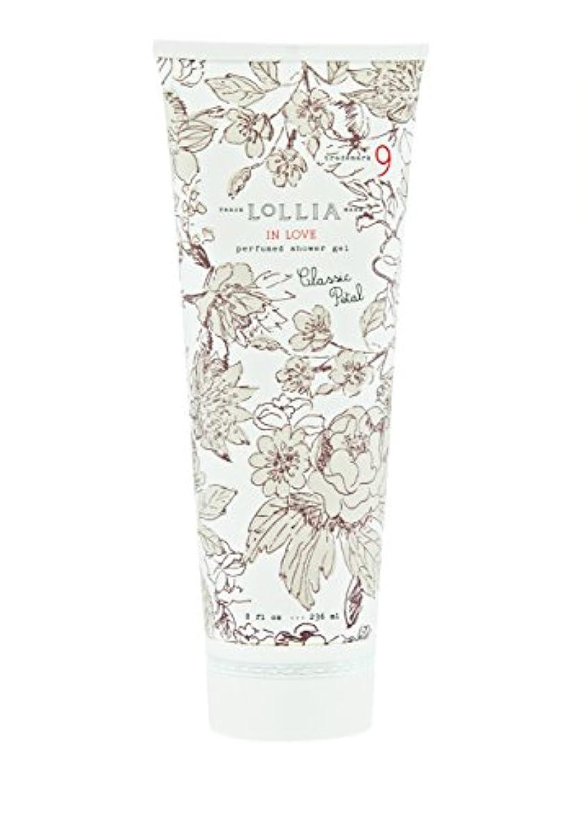 アンタゴニスト救援多様体ロリア(LoLLIA) パフュームドシャワージェル InLove 236ml(全身用洗浄料 ボディーソープ アップルブロッサム、ジャスミン、ローズのフルーティで爽やかな香り)