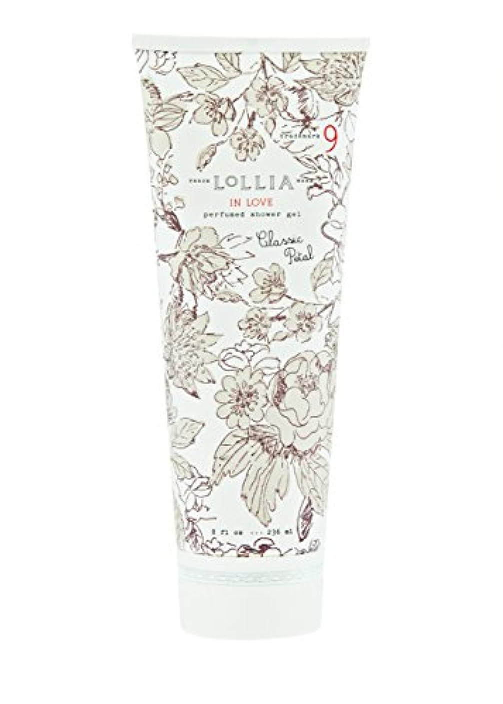 ペインティングする必要がある渇きロリア(LoLLIA) パフュームドシャワージェル InLove 236ml(全身用洗浄料 ボディーソープ アップルブロッサム、ジャスミン、ローズのフルーティで爽やかな香り)