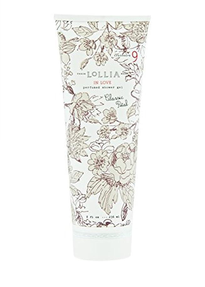 統合する愚かな囲いロリア(LoLLIA) パフュームドシャワージェル InLove 236ml(全身用洗浄料 ボディーソープ アップルブロッサム、ジャスミン、ローズのフルーティで爽やかな香り)