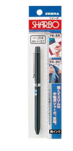 ゼブラ 多機能ペン 1色+シャープ 手帳用シャーボ 黒 P-SBA1-BK