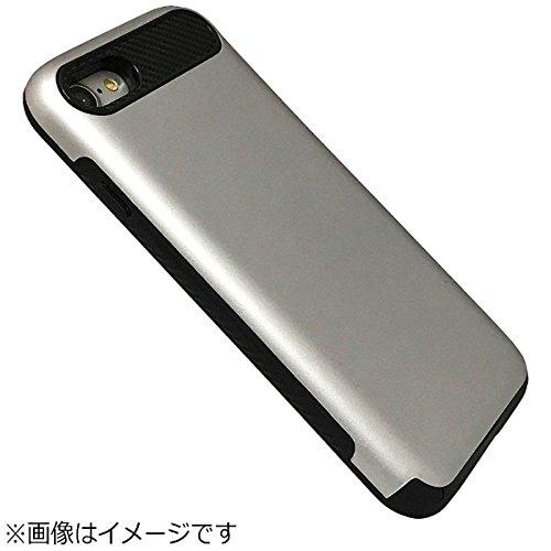 Slot-in スロットイン ケース Suica Pasmo manaca Toica Icocaなど 非接触ICカード対応 カード収納 スマホケース スリム カードが見えない 特殊塗装で 手に馴染む 耐衝撃ケース iPhone 7/8 シルバー