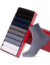 GoldenSelect 靴下 メンズ ビジネスソックス リブソックス 抗菌防臭 10足セット 24-28cm 銀イオン 通気性抜群 (4-マルチカラー)
