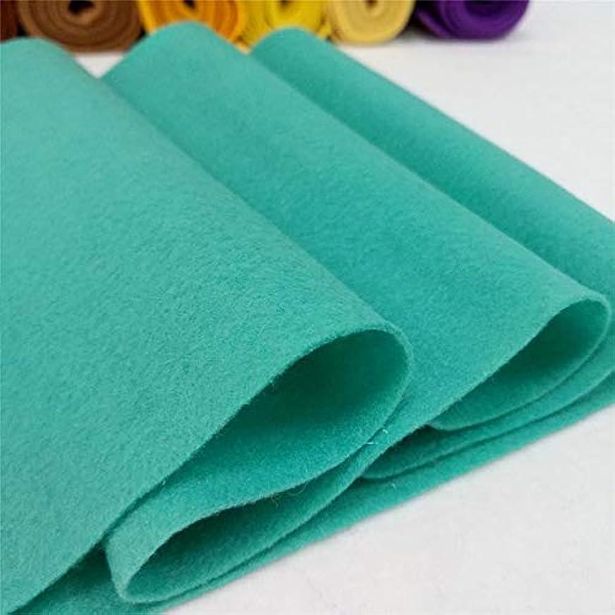 首謀者乱雑な祝うJJYDZ 90 * 90センチメートルロールソフトは、ファブリック不織布フェルト布シートDIYの縫製人形工芸品素材1.4ミリメートル太いフェルト (Color : Turquoise(90X 90cm))