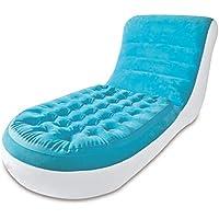 エアベッド家庭用昼食休憩椅子シングルインフレータブルソファデッキチェアレジャーチェア怠惰なソファ170x84x81cm