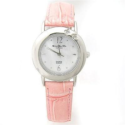 [アレサンドラオーラ]Alessandra Olla 腕時計 ダイヤ2石 AO-6900 PK レディース