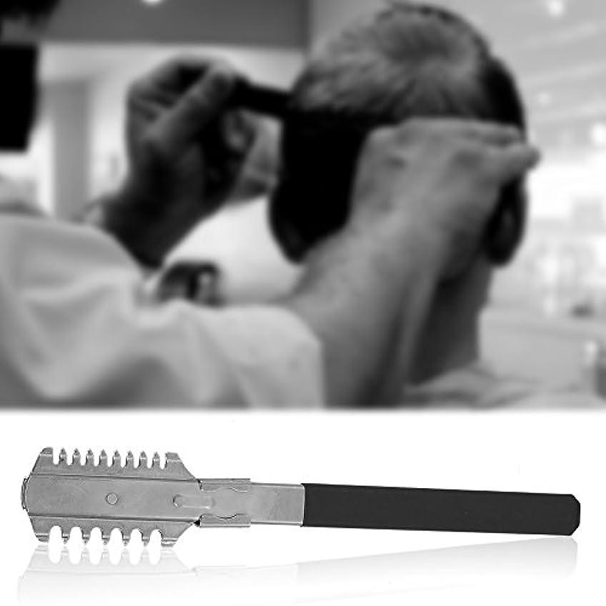 オーバーヘッド建設マイクロフォンステンレス鋼 男性 ストレートシェーバーシェービングナイフ間伐切削カミソリ櫛脱毛ツール