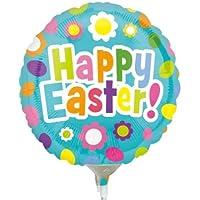 Anagram Happy Easter Fun Mini箔バルーンon Sticks ( 3パック)