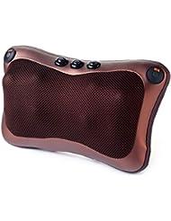 Blackfell 電気ネックマッサージャー8ヘッド快適な磁気療法電子肩バックウエストマッサージ枕クッション