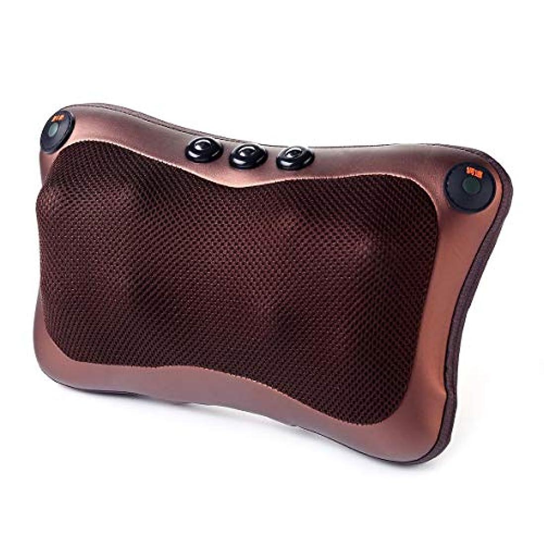 除去ポンペイ定期的Blackfell 電気ネックマッサージャー8ヘッド快適な磁気療法電子肩バックウエストマッサージ枕クッション