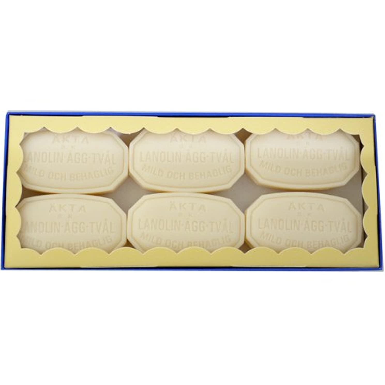 しっかり肝ソーセージヴィクトリアソープ エッグ ホワイトソープ 50g×6個セット 【並行輸入品】