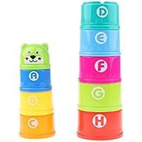 Perfeclan 全9点 スタッキングカップおもちゃ プラスチック製 おもちゃ 教育玩具 子ども 知育玩具