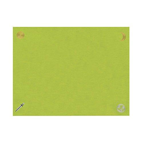 """【国産麻100% """"和""""のリーディングクロス】『日本の神様カード』リーディングマット(萌黄色)"""
