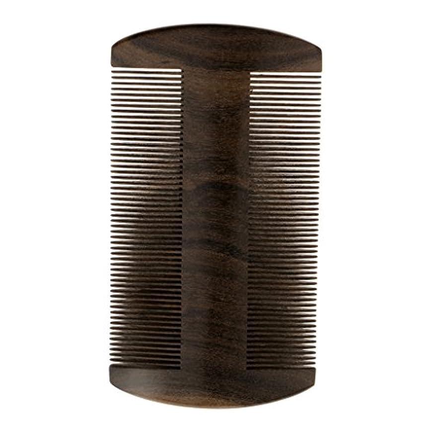 だらしない提供された出力Perfeclan ウッドコーム ヘアブラシ ヘアダイコーム ブラシ ポケットコーム 静電気防止 髭剃り櫛