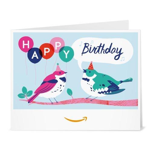 Amazonギフト券- 印刷タイプ(PDF) - 誕生日(鳥)