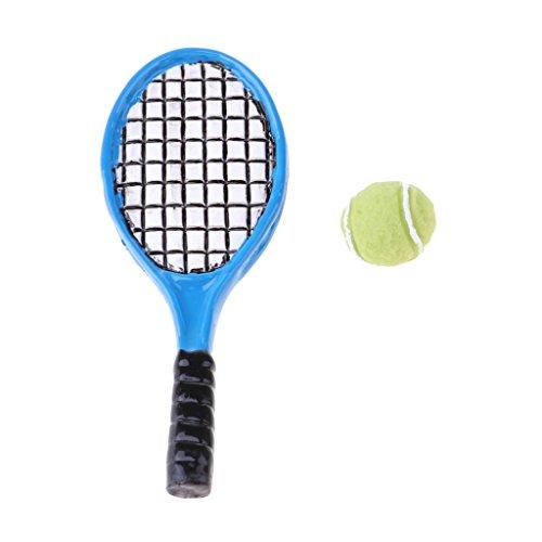 Baoblaze プラスチック製 1/12スケール テニスボ...