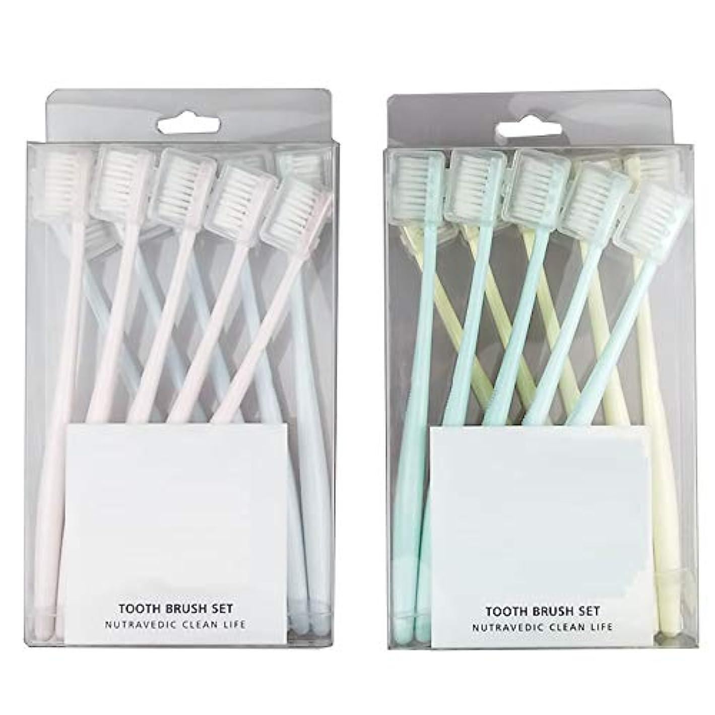 問題ループステッチ歯ブラシ 20スティック歯ブラシ、竹炭歯ブラシ、複合歯ブラシ、歯のホワイトニング - 使用可能なスタイルの2種類 HL (サイズ : B - 20 packs)