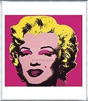 ポスター アンディ ウォーホル マリリンモンロー 1967 (hot pink) 額装品 アルミ製ベーシックフレーム(シルバー)