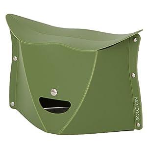 SOLCION 折りたたみ椅子 PATATTO 180 (パタット 180) オリーブ 高さ18cm PT1802