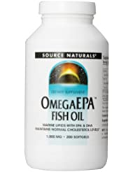 海外直送品 Source Naturals Omega Epa Fish Oil, 200 Softgel 1000 MG