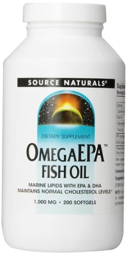 前売余分なペパーミント海外直送品 Source Naturals Omega Epa Fish Oil, 200 Softgel 1000 MG