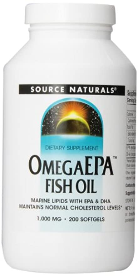 壮大に渡って許される海外直送品 Source Naturals Omega Epa Fish Oil, 200 Softgel 1000 MG