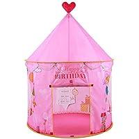 enerhu Indoor / Outdoor Kids Play Tents Boy Girl Children Play ShadeビーチGraden公園パーティー49.21 x40.55」ピンク