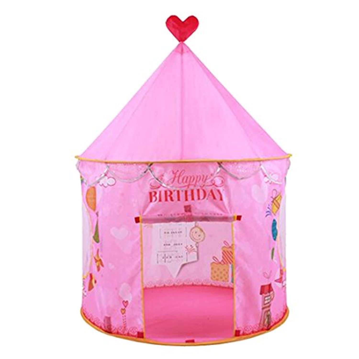 enerhu Indoor / Outdoor Kids Play Tents Boy Girl Children Play ShadeビーチGraden公園パーティー49.21 x40.55」ピンク