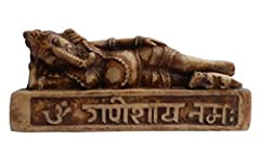 (並行輸入品) アジアン雑貨 ネパール仏像 涅槃ガネーシャ像(スリーピング・ガネーシャ) SLG-6