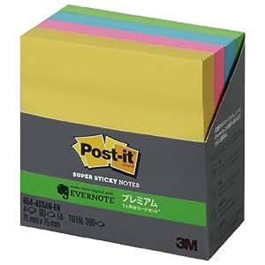 ポストイット 強粘着 エバーノートプレミアムコード付 90枚x4色 654-4SSAN-EN