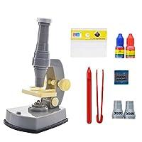 子供のための顕微鏡、 小学校児童科学実験科学教育教育玩具600X顕微鏡セットライトギフト 子供のための科学玩具、早期教育