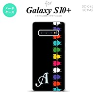 SC-04L SCV42 Galaxy S10+ スマホケース カバー カエル・かえる 黒 【対応機種:Galaxy S10+ SC-04L SCV42】【アルファベット [D]】