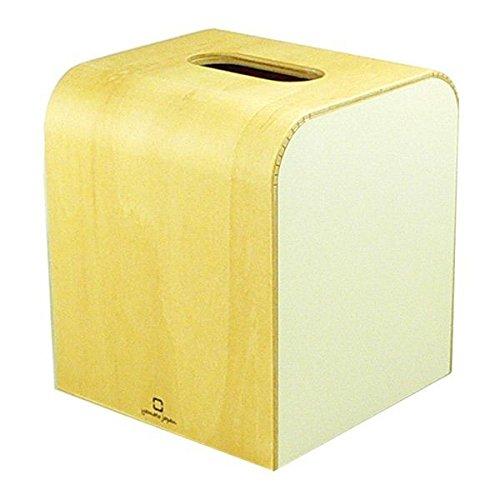 木製 ティッシュボックスケース COLOR MINI ホワイト 255612