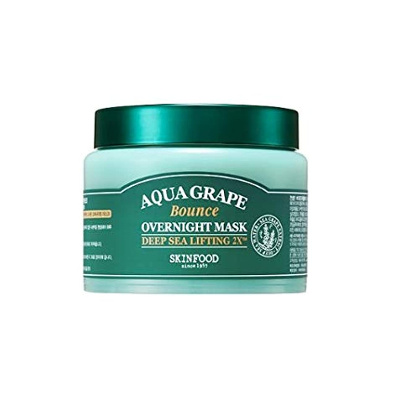 Skinfood アクアグレープバウンスオーバーナイトマスク/Aqua Grape Bounce Overnight Mask 100g [並行輸入品]