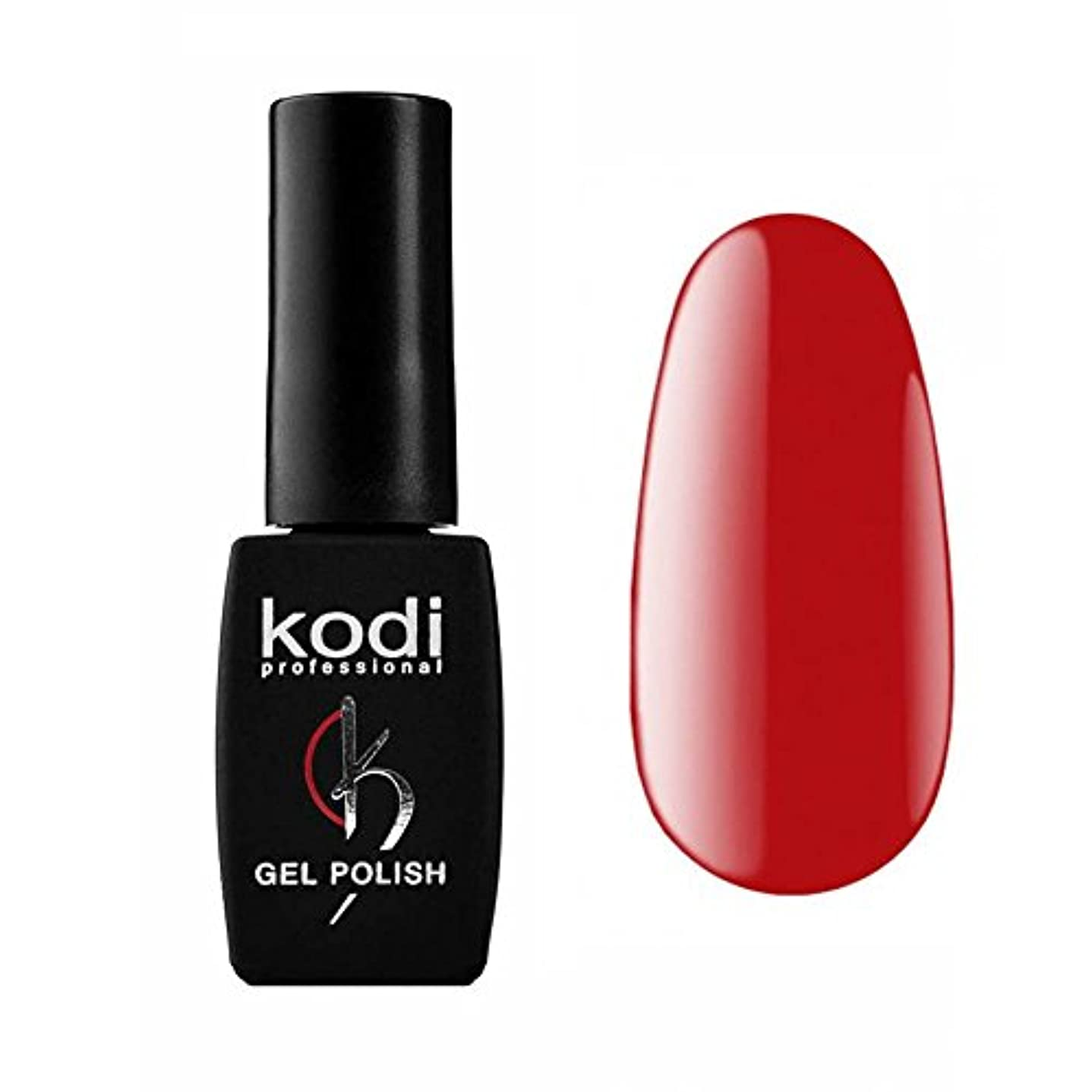 分泌する群れ省Kodi Professional New Collection R Red #80 Color Gel Nail Polish 12ml 0.42 Fl Oz LED UV Genuine Soak Off