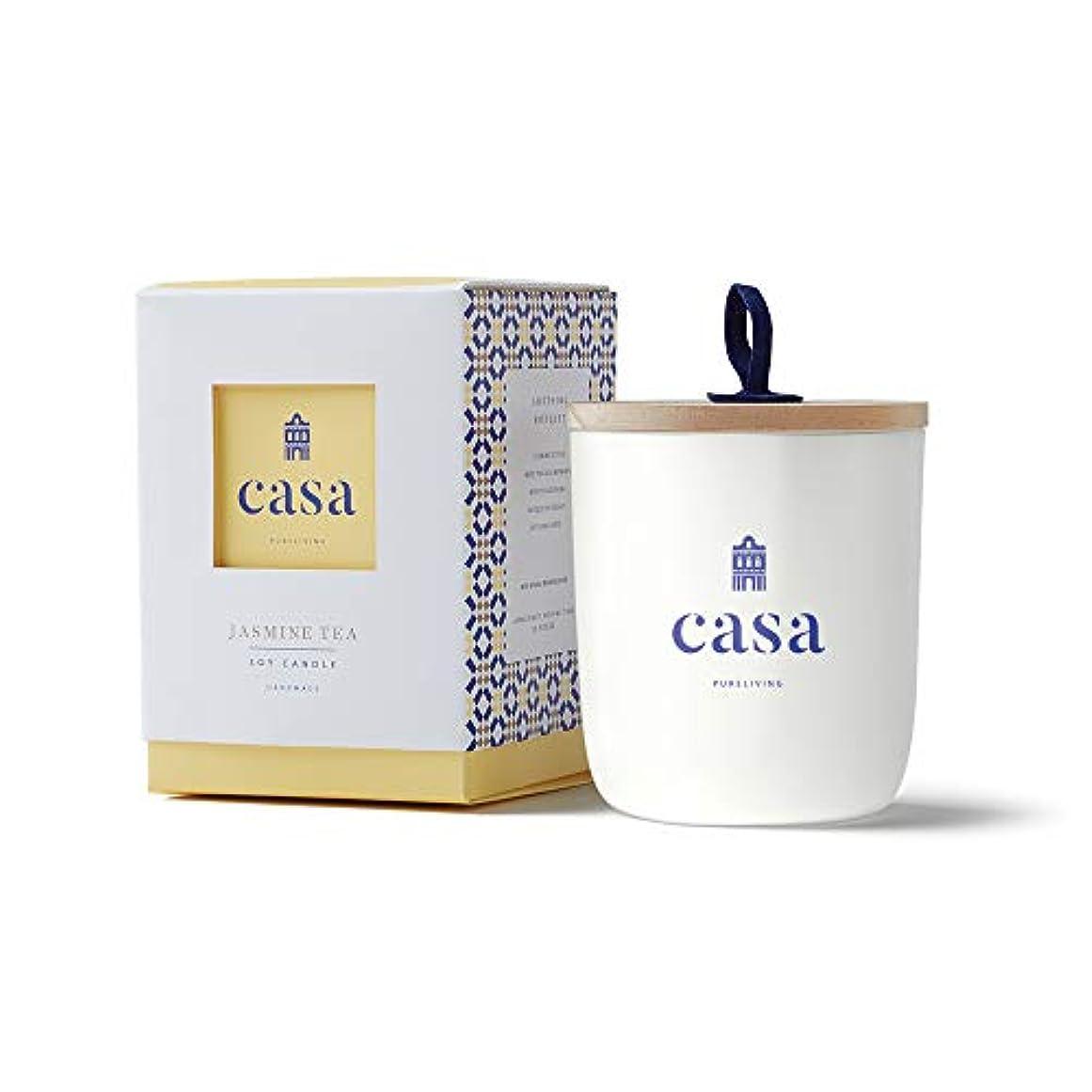 明示的にタックにじみ出るカーサ(CASA) CASA ソイキャンドル ジャスミンティー レギュラー