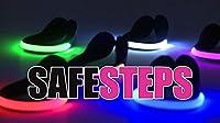 safesteps Shoeクリップライト( 1つ)–点滅またはSteady LED反射安全夜間Running Gear forランナー、をする方、Bikers