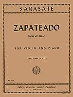 Sarasate Pablo Zapateado Op. 23 No. 2. For Violin and Piano. by Francescatti. International Music [並行輸入品]