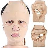 小顔 矯正 美顔 顔痩せ グッズ フェイス マスク ベルト コルセット メンズ サポーター ヌード色(S)
