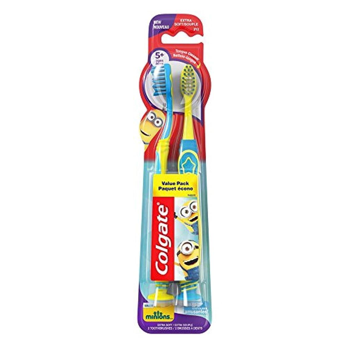 飢えた屋内脱臼するColgate キッズ手下歯ブラシ、2カウント
