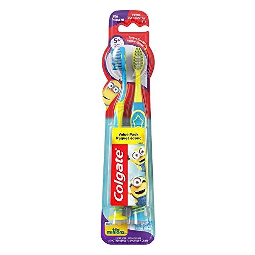 機知に富んだ警告するセッションColgate キッズ手下歯ブラシ、2カウント