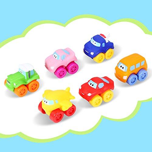Bemixc ミニカー 6台 ベビーおもちゃ 子供向け 作業車模型 赤ちゃんおもちゃ 男の子 知育玩具 お誕生日 クリスマスプレゼント