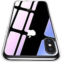 【CASEKOO】iphone x ケース 強化ガラスケース クリア 超薄型 硬度9H 耐衝撃カバー iphone x カバー ハードケース qi対応 ストラップホールありップホールあり