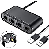 ESYWEN Wii U/PC/Nintendo switch用ゲームキューブに対応コントローラー接続タップ 転換アダプター