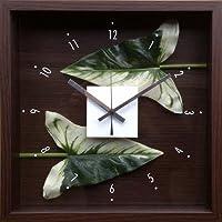 時計 デザイン クロック リーフ アンスリウムの葉っぱ 絵画 インテリア 壁掛け アート ポスター フック 海 ピカソ 額縁