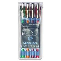 Schneider。メモ型ボールペン, 1.4MM , assortedインク( 150295)