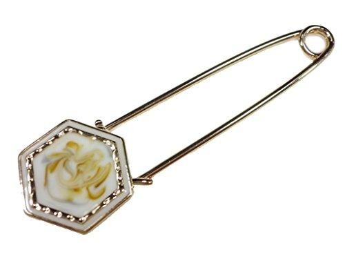 [해외]Net-Shop 31 대리석 무늬 설치 핀 흰색 퀼트 핀 스카프 고정 브로치 숄 핀 안전핀/Net-Shop 31 marble handle stall pin cylindrical quilt pin scarf fastening brooch shawl pin safety pin
