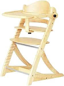 大和屋 すくすくチェア EN テーブル&ガード付 ナチュラルNA 2501 充実した機能が備わったベビーチェア