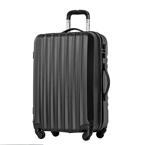 【タノビ】 TANOBIスーツケース キャリーケース キャリーバッグ 超軽量 旅行箱 国内・国際線機内持込可 (S, ブラック)