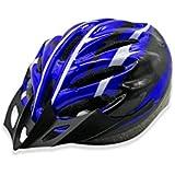 Osize メンズ女性換気バイクヘルメット多孔性調整自転車ヘルメット(ブルー+ブラック+ホワイト)