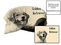 """45""""x 31""""ゴールデンリトリーバーデザインフリーグ犬ベッド保護ブランケット/スローペットシートセーバー(クリーム)"""